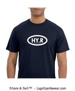 HY.R Mens Blue Dry Fit Shirt Design Zoom